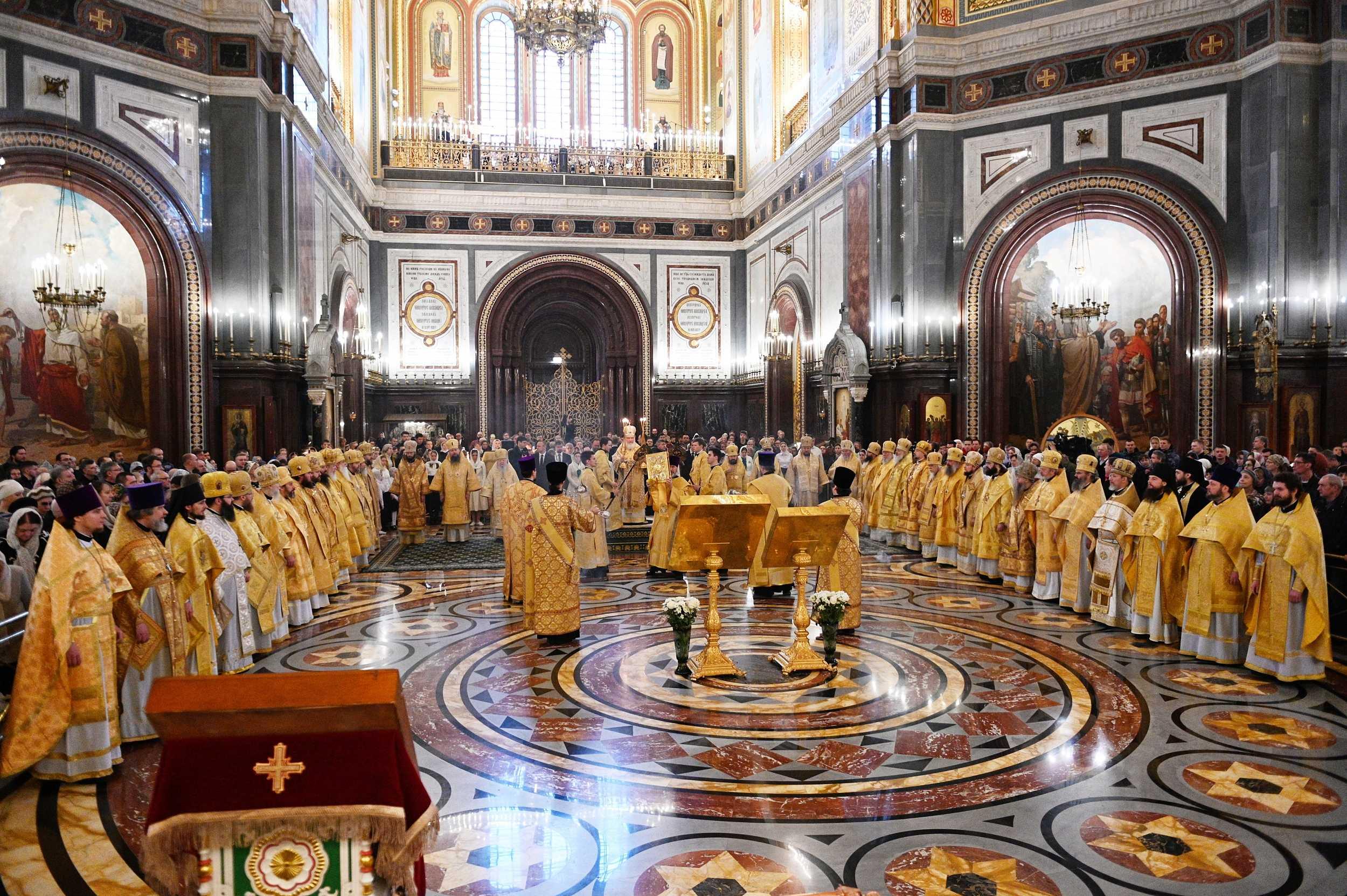В Неделю Торжества Православия митрополит Антоний сослужил Святейшему Патриарху Кириллу