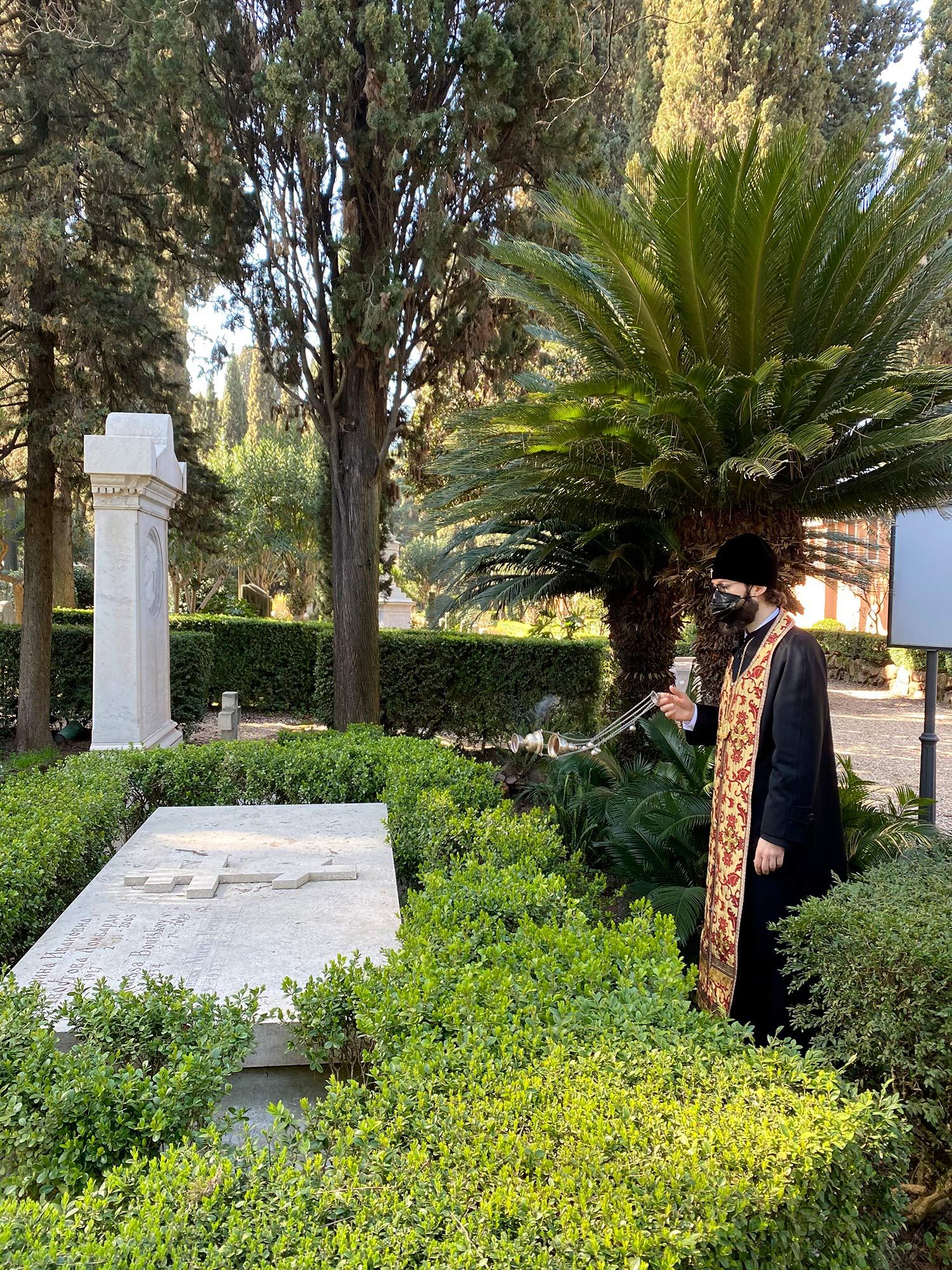 Панихида на могиле графини М.А.Ферзен